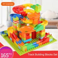 165Pcs DIY Construction Crazy Marble Race Run Maze Track Building Blocks Set R5