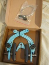 Flybikes Chainstay Mount U-Brake REAR TURQUOISE, with COOL STOP pads