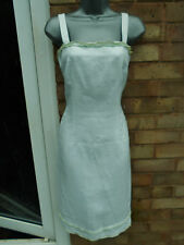 FENN WRIGHT MANSON ladies womens linen special occasion dress size 8 summer