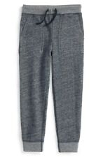 Ralph Lauren Boys 'Loft' Twill Terry Cloth Casual Sweatpants Size 5 Blue Heather