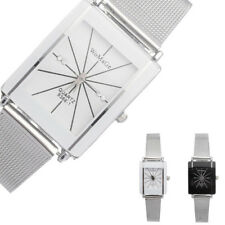 Fashion Casual Mens Womens Stainless Steel Business Analog Quartz Couple Watch