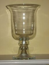 "Southern Living at Home Hemingway Hurricane Glass Clear #40350 12"" tall"