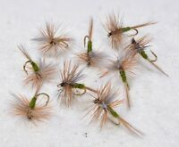 1 Doz Blue Winged Olive Dry Fishing Flies- Choose your Hook Size