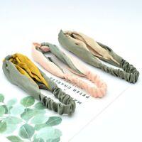 Solid Color Cross Knotted Headdress Hair Accessories Headband Elastic Headband