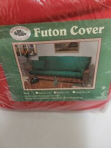Cotton Futon Cover - Red - Size: Full 54in x 75in with zipper