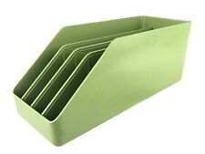 Vintage 1970s Green Plastic Desktop Paper Organizer Removable Separators