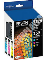 Genuine Epson DURABrite Ultra 252XL 252 4 Pack Ink Cartridges - T252XL-BCS