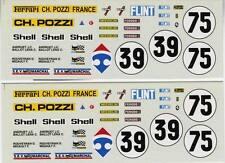 FERRARI 365 GTB4  DAYTONA  N° 39/75  CAREFOUR LE MANS 1972 DECALS 1/43