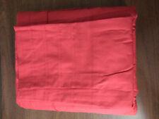 Ikea ALVINE Stra Red Duvet Cover  3 piece Set Full Queen Pleats  2 pillow cases