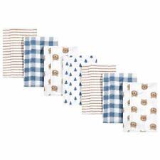 Hudson Baby Boy Flannel Burp Cloths 7-Pack, Little Bear, One Size