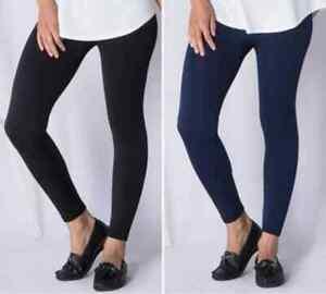 Emelia Fleece lined leggings black, navy blue, chocolate S-10, M 12-14, L 16-18