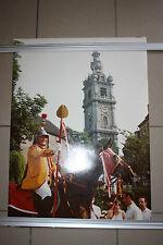 Ancienne Photo Ducasse Messine Mons doudou car d'or lumeçon beffroi st Georges