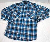 Subculture Long Sleeve Button Front Flannel Shirt Size XL/8-20