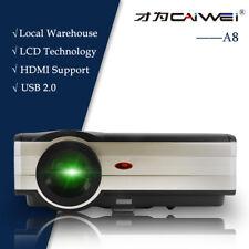 4000lms 6500:1 LED LCD Heimkino Projektor Party Spiel Film HDMI USB HD VGA 1080p