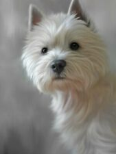 More details for nigel hemming west highland terrier - 40th anniversary print westie art canine