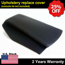Fits 16 19 Nissan Maxima Leather Center Console Lid Armrest Cover Gray Stitch Fits Nissan
