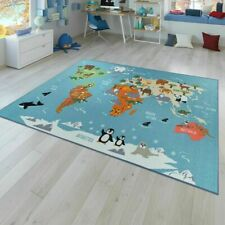 Children Mat World map Animal Nursery Rug Boys Girls Baby Playmat Bedroom Carpet