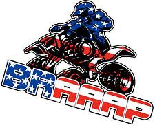Motocross, ATV, BRAAAP Sticker Decal, 4x4, Trailer Decal Car Truck windows