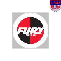 Fury Skateboard Trucks 4 Stickers 4x4 Inch Sticker Decal