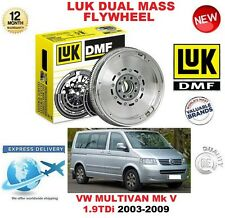 FOR VW MULTIVAN Mk V 1.9 TDi 2003-2009 ORIGINAL LUK DMF DUAL MASS FLYWHEEL