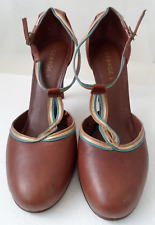 George Brown T-bar heels with Multi colour trim. Size UK 7/41 (Fits UK8)