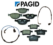 Front Brake Pads & Rear Brake Pads Set Pagid + Sensor Jaguar XKR-S V8 5.0L 12-15