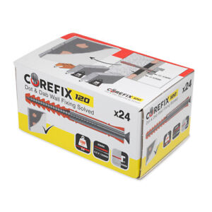 Corefix 120MM Plus 30 Dot & Dab Heavy Duty Wall Fixings Drylined Brick Block
