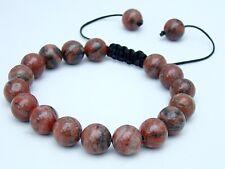 Men's Shamballa bracelet all 10mm  Sesame Jasper NATURAL STONE  beads