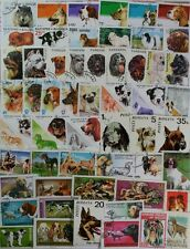 DOGS, 100 different stamp collection featuring Dogs from around the world (lotDP