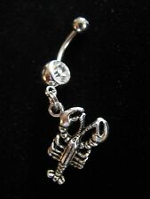 LOBSTER CRAB TRAP FISHING FISHERMAN BOAT SHIP REEL NAVEL BELLY RING BODY JEWELRY