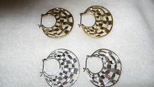AVON BASKETWEAVE HOOP EARRINGS 2PACK