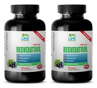 Trans Resveratrol - Anti-Aging - Resveratrol Supreme 1200mg (2 Bottle 120 Caps)