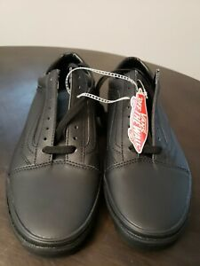 Vans Old Skool Classic Tumble Leather Blackout Size 9 Mens New  VN0A38G1PXP