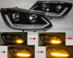 SCHEINWERFER für VW CADDY 2K LED BAR TAGFAHRLICHT TFL R87 SCHWARZ BLACK LIGHTBAR