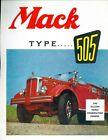 Vintage Mack Type 505, 500-gallon Triple Combination Pumper Foldout brochure