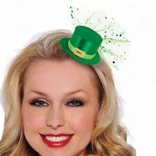 Sombreros, gorros y cascos color principal verde de poliéster para disfraces y ropa de época