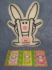 Vintage 90s It's Happy Bunny Not Listening Pillow + Note/Calendar/Address Books