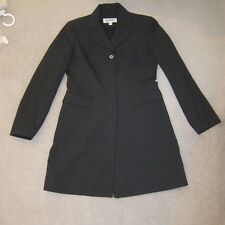 Esprit dark charcoal grey wool blend long jacket EXC COND AS NEW Size 8