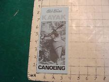 Vintage CLEAN brochure: OLD TOWN KAYAK CANOEING; 1974
