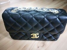 BRAND NEW BRANDED Single/Double Chain Black Quilted Bag - $150