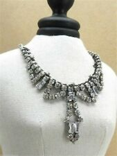 Fossil Necklace Silvertone Nice Ice Queen Mum Crystals New! NWT