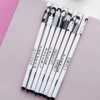 4Pcs Gel Pen Black Ink Pen Cute Student 0.38mm School Office Stationery