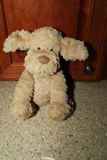 """Jellycat London Fuddlewuddle Puppy Dog Plush Stuffed Animal Tan Brown 9"""" Baby"""