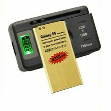 High-Capacity 4350mAh Gold Battery & Charger For Samsung Galaxy S5 i9600 G900A T