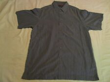 GREEN STRIPED Short Sleeve David Taylor Button Shirt W Pocket L 310