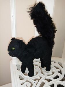 Rare  1930s  Merrythought arched back black cat  mohair.