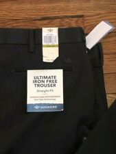 NWT DOCKERS GREY ULTIMATE IRON FREE TROUSER STRAIGHT FIT PANTS SZ: 44 X 30