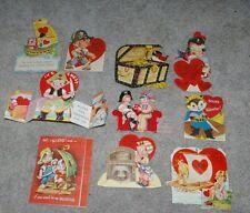 10 Vintage 1930's- 1950's Pirate Usa Valentines Fun Lot!