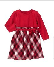 Gymboree Girls New year Dress long sleeves red size 5
