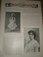 Photo article printed photos actresses Ethel Sydney May Congdon 1903 ref Z